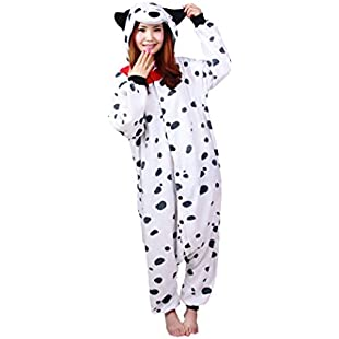 dressfan Unisex Animal Cosplay Costume Spotted Dog Pajamas Adult