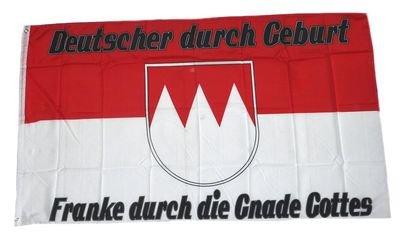 Fahne Flagge Franke durch die Gnade Gottes 90 x 150 cm