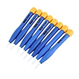 Delaman Frequency Screwdriver Set 8pcs Adjust Anti-Static Plastic Ceramic Screwdriver Kit, Useful Ceramic Alignment Screwdriver Tool