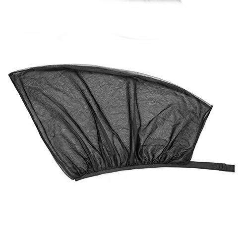 Herewegoo - Parasol para ventana lateral de coche, protección UV, antimosquitos, transpirable, 2 unidades, universal, para ventana delantera/trasera