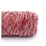 HAIXUE 100Grams / Set Anti-Pilling Terciopelo de Terciopelo de poliéster algodón Mezclado Hilo de Tejer a Mano for la Bufanda de Cardigan -Style 2 (Color : 21 Peach)
