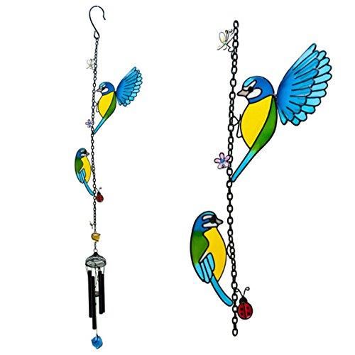 Jones Home and Gift Windspiel mit zwei hübschen Vögeln zum Aufhängen