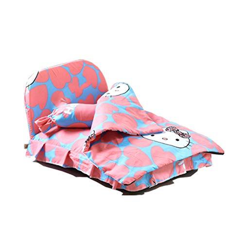 HYY Cama de Gato, Cama Perro Grande Lavable,Cama Gato Suave Lavable esponjosa Peluche Cama sofá Nido Cojines para Dormir para Gatos y Perros,Colchon Perro (Color : Pink)