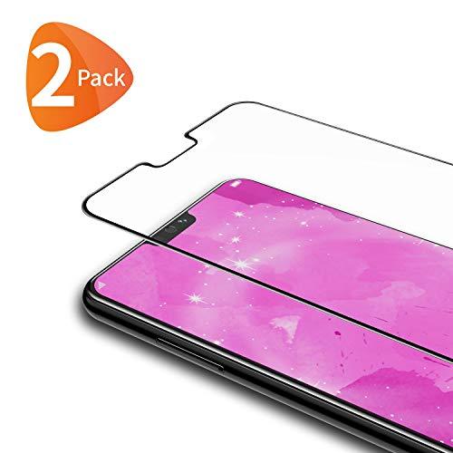 Bewahly Vetro Temperato Huawei Honor 8X [2 Pezzi], Copertura Completa Pellicola Protettiva in Vetro Temperato per Huawei Honor 8X [9H Durezza, Alta Definizione] - Nero