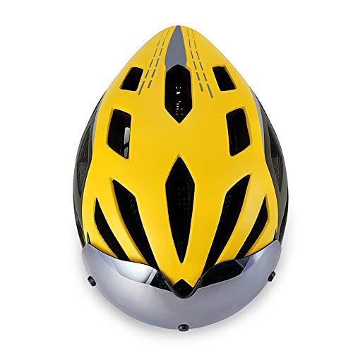 Aiong Casco Bici da Adulto per Uomo Casco Bici Donna Certificato CPSC Leggero per Strada Urban Mountain BMX Protezione da Ciclismo con Visiera Rimovibile e Cinghia Riflettente Regolabile