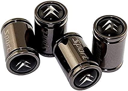 Coche Neumático Antipolvo Válvula Tapas Para Citroen C4 Aircross C5 Berlingo C3 Elysee, Metal Antirrobo Antipolvo Resistente Agua Decoración Accesorio