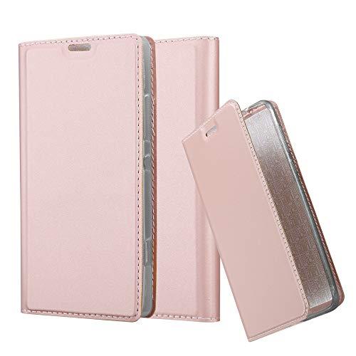 Cadorabo Custodia Libro per Sony Xperia SP in CLASSY ORO ROSA – con Vani di Carte, Funzione Stand e Chiusura Magnetica – Portafoglio Cover Case Wallet Book Etui Protezione