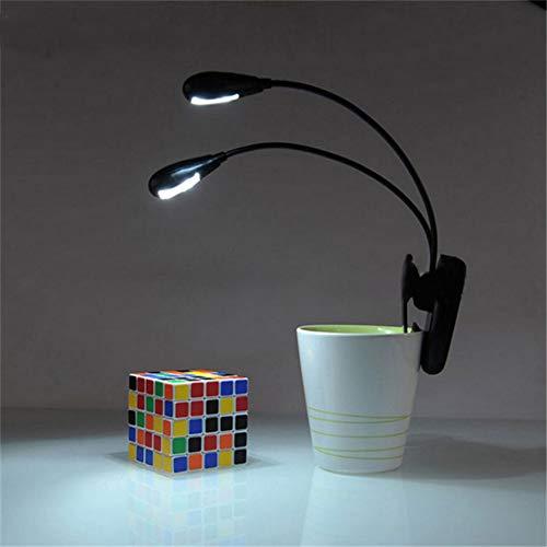 XHSHLID leeslamp voor kinderkamer zwanenhals verstelbare klem op LED-lamp voor muziekstandaard en boek leeslamp