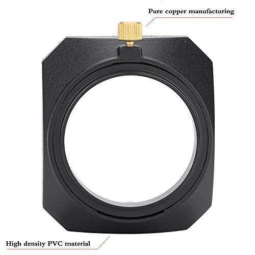 Yisau 43mm Square Metal Screw-in Lens Hood for Leica X Typ 113, Leica X Vario Type 107,Voigtlander Nokton Classic 35mm/f1.4 40mm/f/1.4 MC SC VM, Carl Zeiss Biogon T ZM 35mm/f2 Lens
