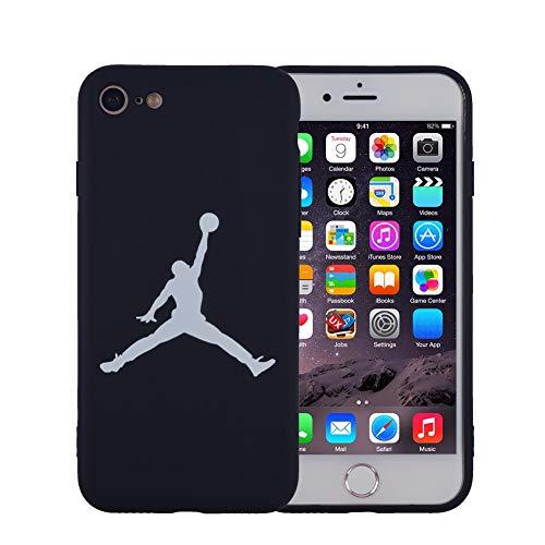 Onix Store Schwarze Silikonhülle mit Basketball-NBA-Player, Flexible Abdeckung für Ihr Handy (iPhone 7 Plus und 8 Plus)