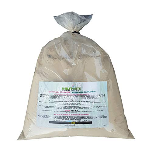Multi-Mite 2KG DIATOMACEOUS EARTH Feed Red Mite Supplement DE Powder SPECIAL GRADE DE