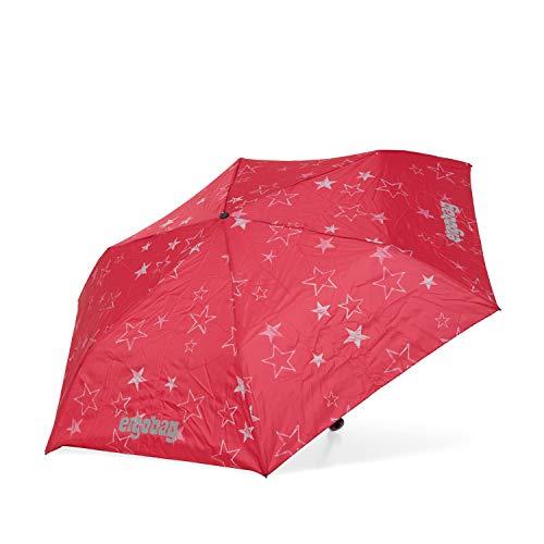 ergobag Regenschirm - Schultaschenschirm für Kinder, extra leicht mit Tasche, Ø90cm - CinBärella - Pink