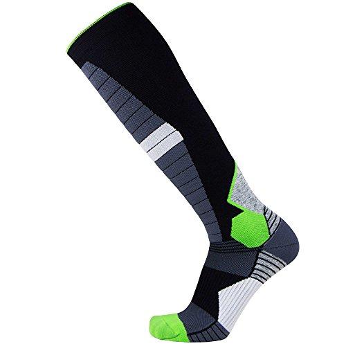 Compression Ski Socks Merino Wool – Thermal Warm Socks for Skiing, Snowboarding, OTC