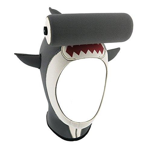 inShareplus Cartoon Scuba Wetsuit Hood, M Size Grey Hammerhead Shark Shaped Premium Neoprene 3mm Vented Scuba Diving Hood for Scuba Diving, Snorkeling, Spearfishing