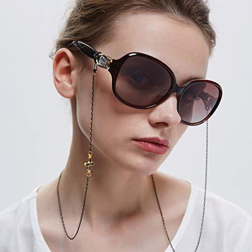 Xnuoyoメガネチェーン 眼鏡チェーン レディース おしゃれ 可愛い クローバー 落下防止 花柄 人気 首掛け シンプル エレガントレディース 金属製