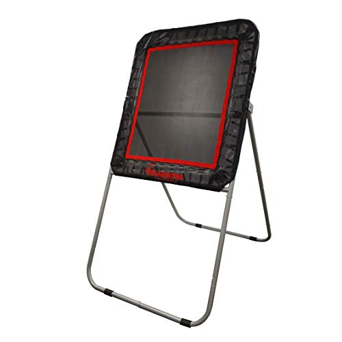 Gladiator Lacrosse Professional Bounce Pitch Back/Rebounder (Black), 49X32X6, Black with Orange...