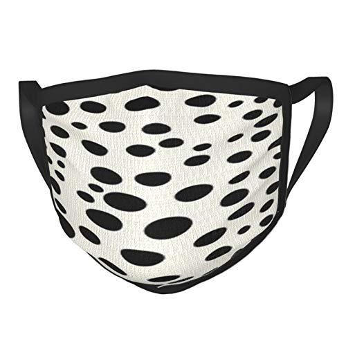 Bandana unisex con diseño de lunares de leopardo, color negro y blanco roto, color vainilla, para el cuello, bandana para la cara, bandana para damen herren