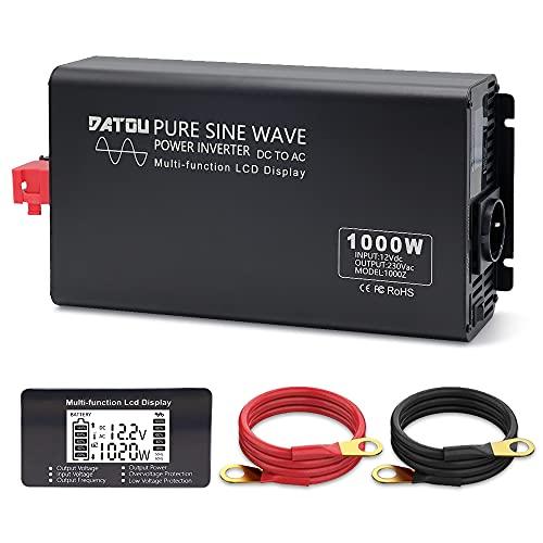 1000W/2000W 12V a 220V/230V Onda sinusoidal Pura...