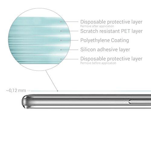 kwmobile 2x Folie kompatibel mit Huawei MediaPad T3 10 - Full Screen Tablet Schutzfolie entspiegelt - 3