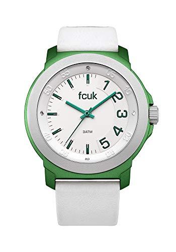 French Connection Damen Analog Quarz Uhr mit Leder Armband FC1150N