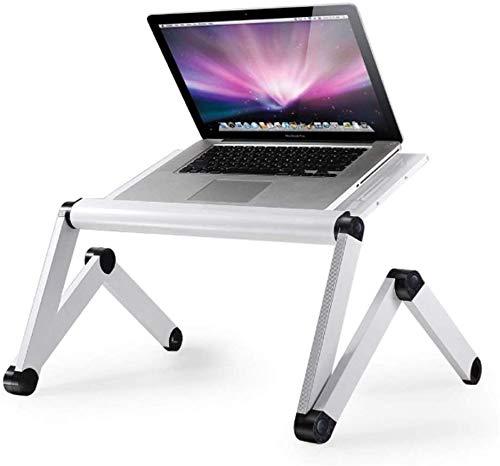 Opvouwbare draagbare bijzettafel, nachtkastje aluminium laptop stand student slaapzaal studie tafelZHFZD, 45 * 24.5, ZILVER