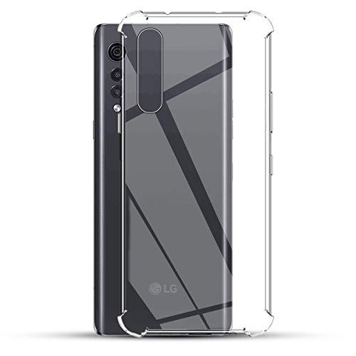 GEEMEE für LG Velvet 5G Hülle, Slim Weich Dünn Durchsichtige TPU Hülle Soft Silikon Transparent Schutzhülle Ultra Thin Back Cover Handyhülle