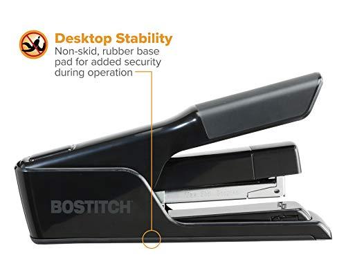 Bostitch EZ Squeeze 40 Sheet Flat Clinch Desktop Stapler, Reduced Effort, Black (B9040) Photo #8