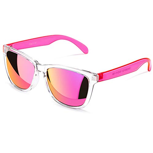 Womens Sunglasses UV400 Mirrored Lens, Fit for Outdoor, Vacation, Driving