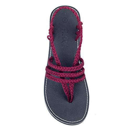 Plaka Yoga Sling Sandals For Women by Sunset Sangria 9 Zori