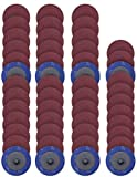 S SATC 50 PCS 2 Inch Roloc Disc 60 Grit Sanding Discs Set Fits Air Die Grinder Aluminum Ox...