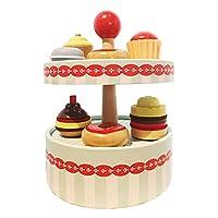 T TOOYFUL ふりプレイキッチンケーキおもちゃ子供用プレイハウスシミュレーションフードプラシセット就学前子供ロールプレイゲームドールハウスデコレーションギフト