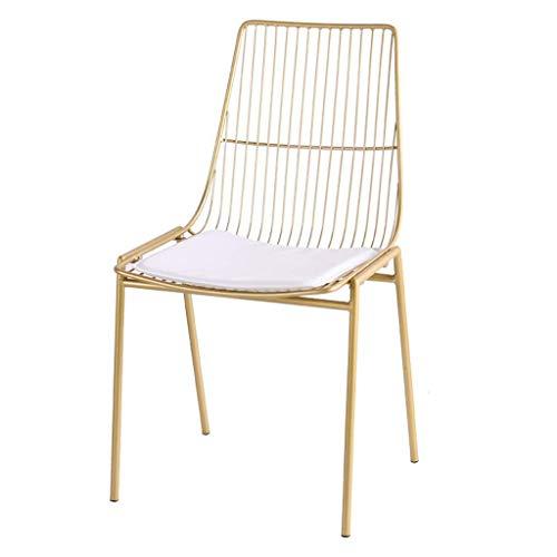 MIEMIE Sillas para cómoda, Silla Nordic Tea Shop Wire Hierro Forjado Creative Leisure Cafe Table Back Designer