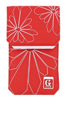 Golla Ray Universal Handyhülle Pouch Tasche für Smartphone Mobile Bag mit Lasche und Karabinerhaken - Rot/Hellgrau