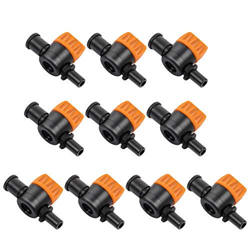 YARNOW 10 Piezas Válvula de Interruptor de Riego por Goteo 4/7 Válvulas de Compuerta de Tubo Accesorios de Riego Piezas Estilo 2