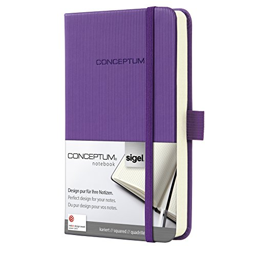 Sigel CO560 - Cuaderno (tapa dura, A6, cuadriculado), morado