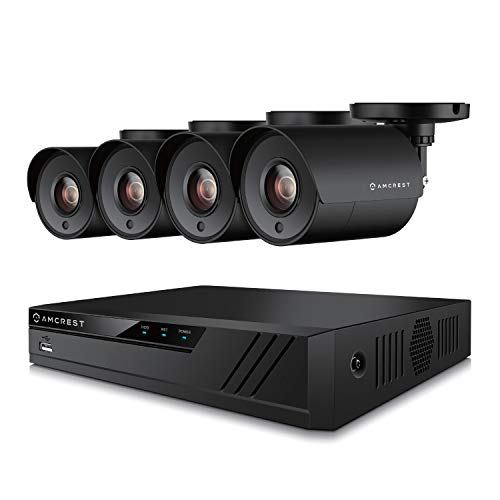 Amcrest UltraHD 4MP 4CH Home Security Camera System with 4 x 4-Megapixel Weatherproof Outdoor Security Cameras, 4MP DVR w/ Pre-Installed 1TB Hard Drive, Night Vision, BNC Cables (AMDV40M4-4B-B)