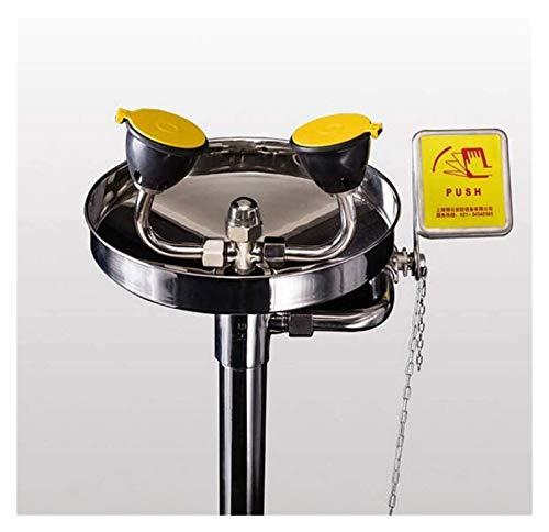Seguridad lavado de ojos de la serie tradicional de pedestal Monte, Estación Lavaojos de Emergencia, los 304 componentes de acero inoxidable con el pedal de apertura rápida Cierre sellado fiab