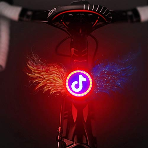 Lanyan-Fahrrad-Zubehör USB-Lade Rot Blau Farbe Reiten Licht-Rücklicht Sicherheits-Lichtfahrradrücklicht USB Warnung Lade Sicherheit Nacht reitet Licht Mountainbike-Ausrüstung Zubehör Warnung (Musik Sc