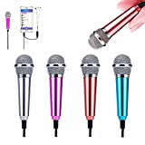 XGPA Mini Microphone Portable Vocal/Instrument Microphone for Mobile Phone Laptop Notebook Apple iPhone Samsung Android with Holder Clip(Silver)