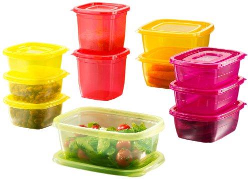 BEEM Click-Fresh, 22-teiliges Aufbewahrungsboxenset, Rainbow