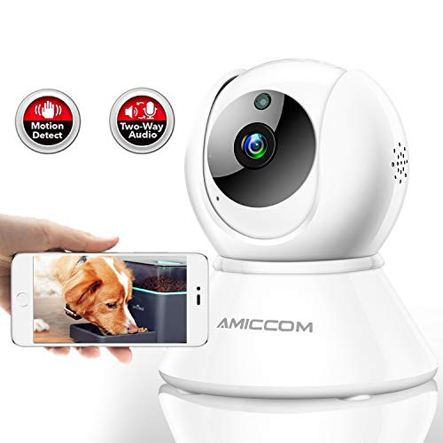 Pet Camera,Dog Camera 1080P HD Wireless IP Camera 2.4G with 2 Way Audio Night Vision,Activity Alert,Support iOS/Android/Windows