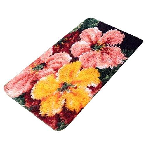 Daily Mall ZD1009 - Tappeto a uncinetto, per bambini e adulti, set per tappeti, cuscini a maglia, 58 x 40 cm