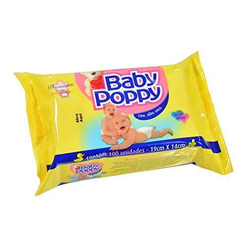 Lenço Umedecido Sache com 100 Unit, Baby Poppy