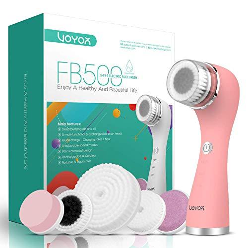 VOYOR 5 En 1 Recargable Cepillo Limpiador Facial Electrico Limpieza Facial Minimizador...