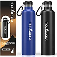 Tolaccea 33oz 18/8 Stainless Steel Insulated Water Bottle (Blue)