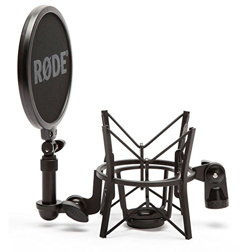 Rode Microphones SM6 Microphone Shock Mount with Integrated Pop Shield, nero