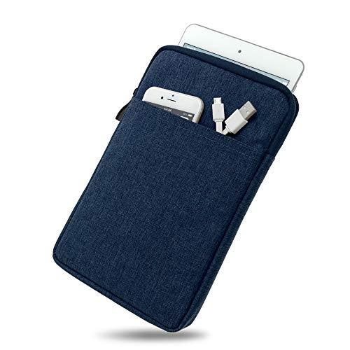 Wasserabweisende Tasche mit Kantenschutz für Samsung Galaxy Tab 3 8.0 in BLAU | Superweiches Inlay inkl. Zubehörfach und strapazierfähigem Reißverschluss [passend für Modell SM-T310, SM-T311, SM-T315]