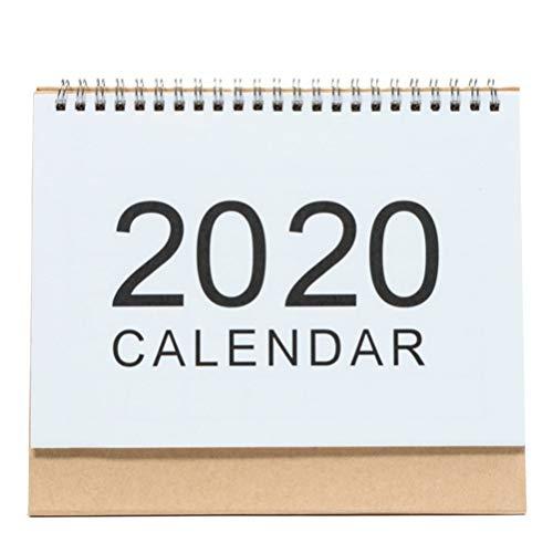 Amosfun Calendario de 2020 calendario memo cableado de escritorio calendario simple para oficina escuela hogar simple
