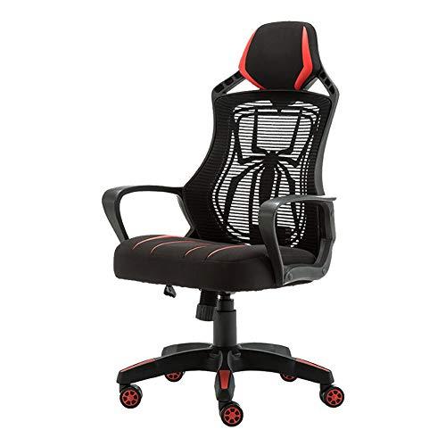 Bürostuhl, Computer Stuhl, e-Sports, Spiel Stuhl, ergonomische Liege, drehstuhl, höhenverstellbar, atmungsaktives mesh, schwarz rot, Spiderman, cool