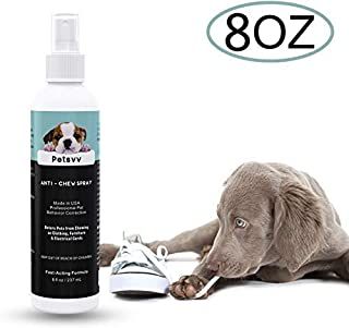 Anti Chew Spray Deterrent for Dogs, No Chew Pet Training Corrector to Stop Biting | Non-Toxic | Alcohol Free | Made in USA - 8oz